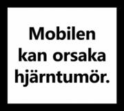 Mobilen kan orsaka hjärntumör